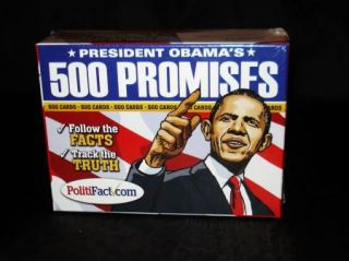 President Barack Obama's Campaign Promises Cards or Lies 500 Count Democrat