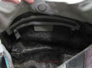 Fossil Fifty Four Reagan Patchwork Leather Hobo Handbag Purse Bag Bags