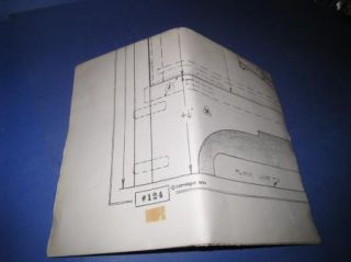 Vintage Dry Sink Building Plan Pattern Scaled Drawings 3K