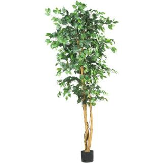 Decorative Natural Looking Artificial Potted 6' Ficus Silk Tree Faux Fake Plants