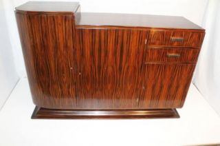 French Art Deco Modern Rosewood Bar Buffet or Entertainment Cabinet C 1920'S