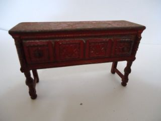 Old Antique Cast Iron Dollhouse Buffet Cabinet Arcade