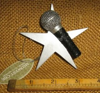 Cannon Falls Music Singer Vocals Vocalist Singing Microphone with Star Ornament