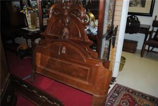 Beautiful Ornately Carved Antique Victorian Full Size Bed Fantastic Price