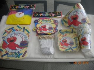Set 12 Elmo Kids Happy Birthday Party Favors Supplies