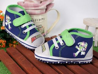 New Toddler Baby Boy Blue Casual Shoes US Size 2 A965