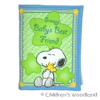 Snoopy Woodstock Cloth Soft Book Peanuts Kids Baby