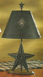 Metal Star Accent Table Lamp Metal Tin Punch Shade