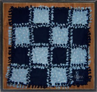Personalized Blue Baby Boy Tied Knot Blanket Quilt Gift