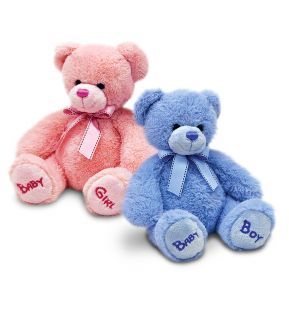 18cm Blue Childrens Kids Baby Boy Nursery Bobby Cuddly Teddy Bear Soft Plush Toy
