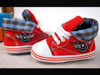 New Toddler Baby Boy Red High Top Shoes 18 24 Months A1010