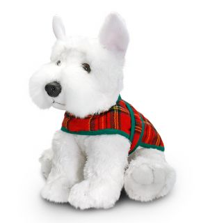 Keel Toys 25cm White Westie Terrier Dog Puppy Coat Soft Plush Cuddly Toy