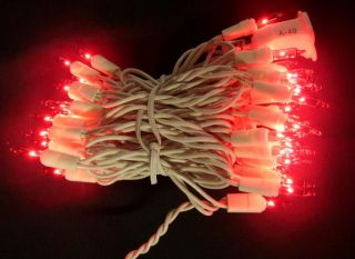 Christmas Wedding 1 Set 100 Lights Red White Cord 42 ft Long
