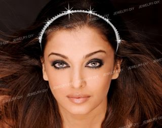 Wedding Bridal Crystal Tiara 3 Row Rhinestone Headband Chic