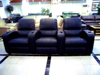 Home Theater Seating Leather Movie Seat Recliner Chairs Reclining Sofa