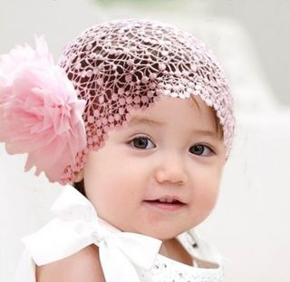 Cute Girl Toddler Baby Flower Lace Headband Hairband Hair Bow Headwear Pink Red