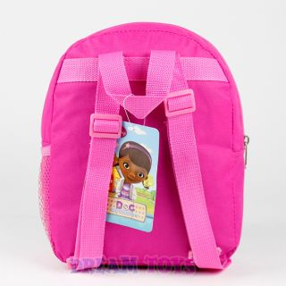 "Disney Doc McStuffins Backpack Dottie Lambie Stuffy 10"" Mini Girls Toddler Bag"