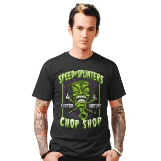 Steady Speed N Splinters T Shirt Rockabilly Tattoo Punk Kustom Kulture Tiki