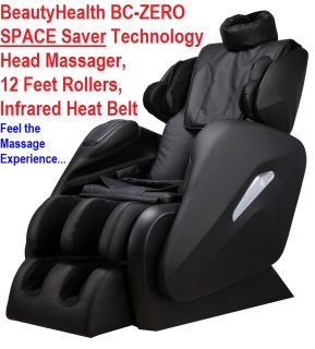 New Beautyhealth BC Zero Infrared Shiatsu Massage Chair Space Saver Technology