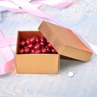 Gold Pink Red Favor Gift Boxes Wedding Baby Shower Party Candy Box Decor