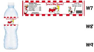 Dr Seuss Printed Water Bottle Labels Birthday Party Favors Supplies