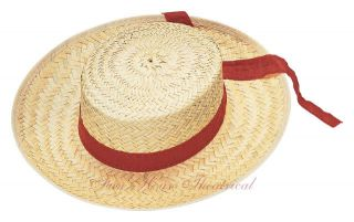 Venice Gondola Gondolier Straw Hat Halloween Costume Accessory Adult 49276