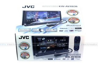 JVC KW AVX836 Double DIN Car DVD Stereo iPod USD Player