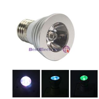 Lot5 x 16 Color Changing E27 3W RGB LED Light Bulb Lamp 85 265V Remote Control