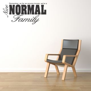 A Nice Normal Family Wall Quote Sticker Art Removable Vinyl Decal Lettering