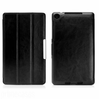 Black Executive Leather Case Cover for New Asus Google Nexus 7 2nd Gen 2013