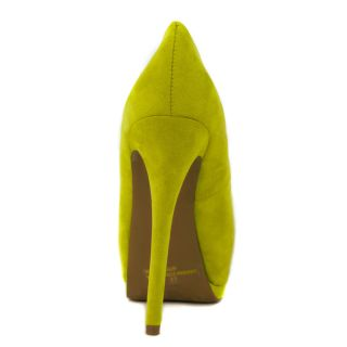 Hot Fashion Lime Green Keyhole Peep Toe Platform High Heel Stiletto Pump US 8 5