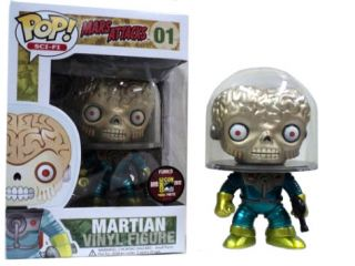"2012 SDCC Mars Attacks Martian Metallic Pop Vinyl Figure 4"" Funko Comic Con"