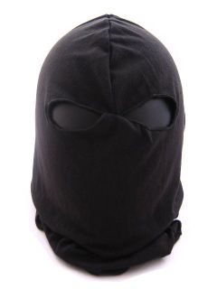 SWAT Balaclava Hood 2 Hole Head Face Mask Protector BK
