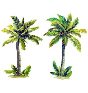 50 Tropical Beach Palm Trees Wallies Wall Stickers Wallpaper Decals Decor Murals
