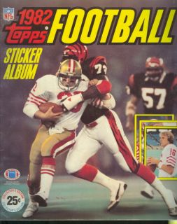 1982 Topps Football Sticker Album Joe Montana 513G