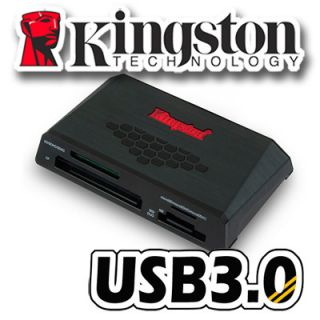 Kingston USB 3 0 Media Flash Memory Card Reader Micro SD SDHC SDXC CF M2 UHS 1