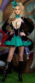 Mischievous Mad Hatter Deluxe Adult Women's Halloween Costume Tea Party New