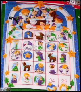 Dimensions Nativity Advent Calendar Felt Christmas Kit Ruth Morehead
