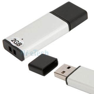 USB 2 0 Lighter Shape Flash Drive Memory Storage 2GB 2G Thumb Design Silver HK