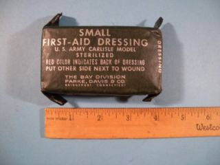 WW2 First Aid Kit US Army Small Carlisle Dressing Bandage