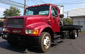 1998 International 4700 Jerr Dan Flatbed Roll Back Wrecker Diesel Tow Truck
