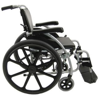 Karman Healthcare Ergonomic Lightweight Wheelchair with Rear Mag Wheels