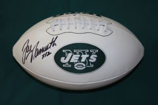 Joe Namath Autographed Jets Logo Football GAI