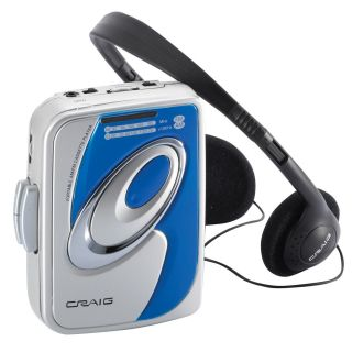 Craig Personal Am FM Stereo Radio Cassette Player with Headphones