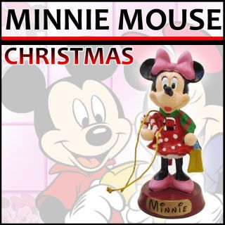 Disney Minnie Mouse Miniature Nutcracker Christmas Ornament