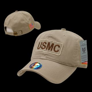 USMC US Marine Corps Military Logo Baseball Cap Dual Flag RAID Ball Caps Hat