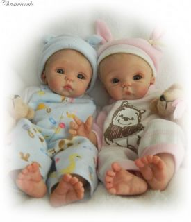 ღ♥ღ♥ooak Hand Sculpted Mini Artist Polymer Clay Baby Boy Art Dollღ♥ღ♥
