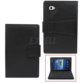 Bluetooth Keyboard Leather Stand Case for Samsung Galaxy Tab 7 inch Tablet P1000