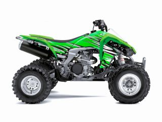 Kawasaki KFX450 ATV Graphics Kit Seat Cover Green