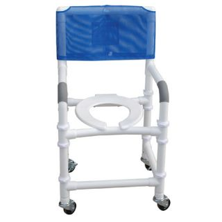 MJM International Standard Deluxe Knocked Down Shower Chair with Optional Accessories